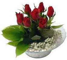 Bursa osmangazi internetten çiçek satışı  cam yada mika içerisinde 5 adet kirmizi gül