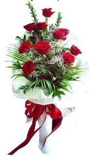 online Bursa ucuz çiçek gönder  10 adet kirmizi gül buketi demeti
