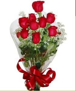 Bursa inegöl çiçek servisi , çiçekçi adresleri  10 adet kırmızı gülden görsel buket
