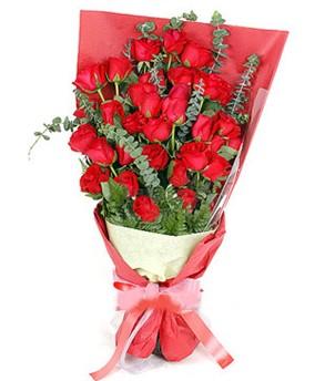 Bursa çiçek nilüfer İnternetten çiçek siparişi  37 adet kırmızı güllerden buket