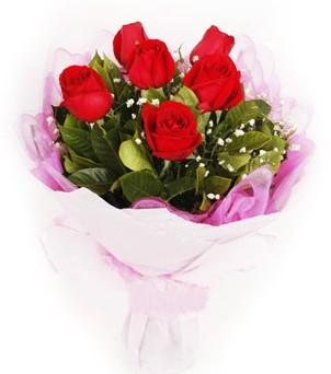 Bursa büyük orhan yurtiçi ve yurtdışı çiçek siparişi  kırmızı 6 adet gülden buket