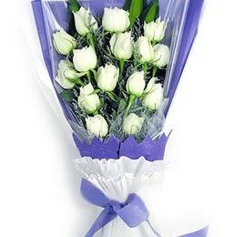 Bursa orhangazi internetten çiçek siparişi  11 adet beyaz gül buket modeli