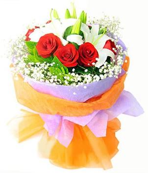 çiçek siparişi Bursa karacabey çiçek yolla  1 dal kazablanka 7 adet kırmızı gül buketi