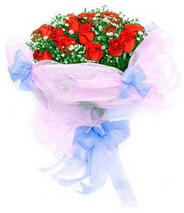 Bursa çiçek gönder nilüfer çiçek siparişi vermek  11 adet kırmızı güllerden buket modeli