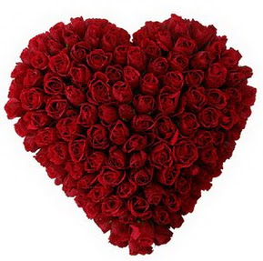 Bursa orhangazi internetten çiçek siparişi  muhteşem kırmızı güllerden kalp çiçeği