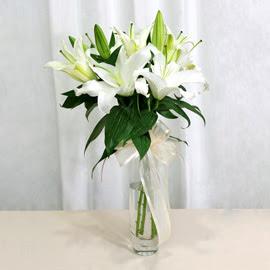 Bursa osmangazi online çiçekçi , çiçek siparişi  2 dal kazablanka ile yapılmış vazo çiçeği