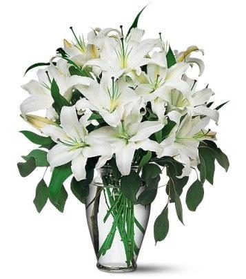 Bursa osmangazi internetten çiçek satışı  4 dal kazablanka ile görsel vazo tanzimi