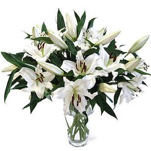 Bursa çiçekçi osman gazi çiçek gönderme sitemiz güvenlidir  3 dal görsel casablanca vazo tanzimi