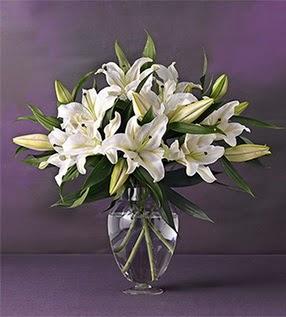 Bursadaki çiçekçiler karacabey çiçekçi telefonları  4 dal cazablanca vazo çiçeği