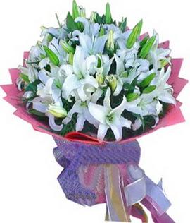 7 dal cazablanca görsel buketi  Bursa orhangazi internetten çiçek siparişi