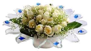 cicek Bursa iznik çiçek online çiçek siparişi  11 adet Beyaz güller özel cam tanzim