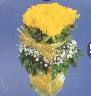 Bursa osmangazi online çiçekçi , çiçek siparişi  Cam vazoda 9 Sari gül
