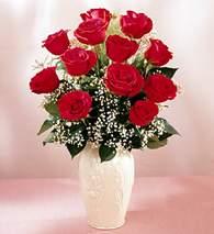 Bursa orhangazi internetten çiçek siparişi  9 adet vazoda özel tanzim kirmizi gül