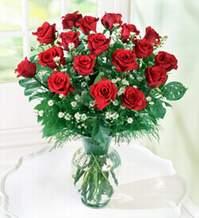 Bursa osmangazi internetten çiçek satışı  9 adet mika yada vazoda kirmizi güller