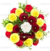 Bursa orhangazi internetten çiçek siparişi  13 adet mevsim çiçeğinden görsel buket