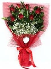 7 adet kırmızı gülden buket tanzimi  çiçekçiler Bursa online çiçek gönderme sipariş