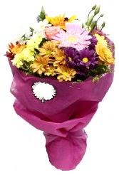 1 demet karışık görsel buket  Bursa osmangazi online çiçekçi , çiçek siparişi