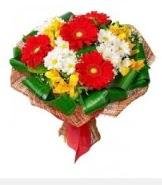 1 demet karışık buket  Bursa büyük orhan yurtiçi ve yurtdışı çiçek siparişi