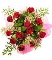 12 adet kırmızı gül buketi  Bursa çiçek siparişi karacabey 14 şubat sevgililer günü çiçek