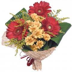 karışık mevsim buketi  Bursa orhangazi internetten çiçek siparişi