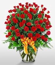 Görsel vazo içerisinde 101 adet gül  çiçekçiler Bursa online çiçek gönderme sipariş