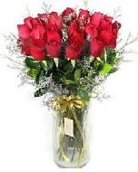 27 adet vazo içerisinde kırmızı gül  Bursadaki çiçekçiler karacabey çiçekçi telefonları