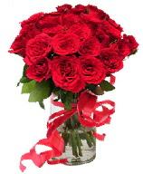 21 adet vazo içerisinde kırmızı gül  Bursaya çiçek yolla orhangazi çiçek satışı
