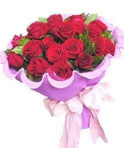 12 adet kırmızı gülden görsel buket  Bursa orhangazi internetten çiçek siparişi