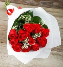 9 kırmızı gülden buket çiçeği  Bursa çiçek nilüfer İnternetten çiçek siparişi