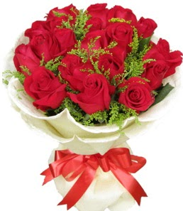 19 adet kırmızı gülden buket tanzimi  çiçek siparişiBursa mustafa kemal paşa çiçek siparişi sitesi