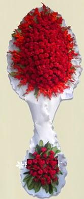 Çift katlı kıpkırmızı düğün açılış çiçeği  Bursa osmangazi online çiçekçi , çiçek siparişi