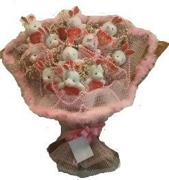 12 adet tavşan buketi  cicekci Bursa inegöl çiçek mağazası , çiçekçi adresleri
