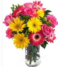 Vazoda Karışık mevsim çiçeği  Bursa orhangazi internetten çiçek siparişi