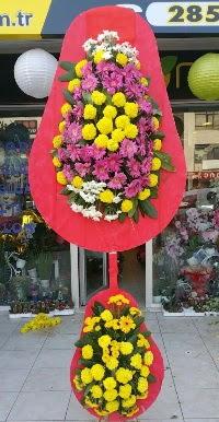 Çift katlı düğün nikah açılış çiçek modeli  Bursa ya çiçek yolla mudanya cicek , cicekci