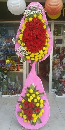 Çift katlı düğün nikah açılış çiçek modeli  çiçek yolla Bursa orhaneli çiçekçiler