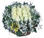çiçek yolla Bursa orhaneli çiçekçiler  Beyaz harika bir gül sepeti