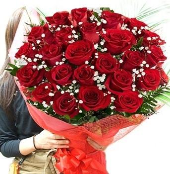 Kız isteme çiçeği buketi 33 adet kırmızı gül  çiçek siparişi Bursa karacabey çiçek yolla