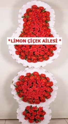 3 katlı kırmızı düğün açılış çiçeği  Bursa çiçek nilüfer İnternetten çiçek siparişi