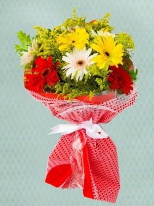 Karışık Gelbera Buketi  Bursa çiçek gönder nilüfer çiçek siparişi vermek