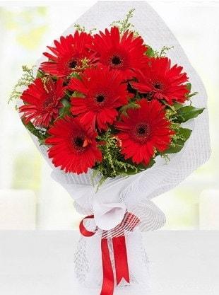 Kırmızı Gelbera Buketi  Bursa inegöl kaliteli taze ve ucuz çiçekler