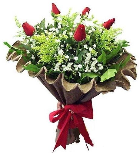 5 adet gülden buket  çiçek siparişi Bursa karacabey çiçek yolla