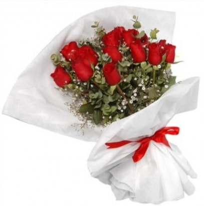 9 adet kırmızı gül buketi  Bursa orhangazi internetten çiçek siparişi
