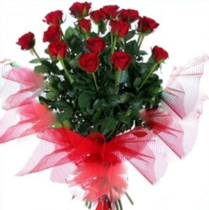 15 adet kırmızı gül buketi  çiçekçiler Bursa online çiçek gönderme sipariş