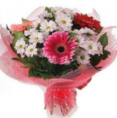 Gerbera ve kır çiçekleri buketi  Bursa inegöl kaliteli taze ve ucuz çiçekler