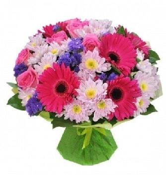 Karışık mevsim buketi mevsimsel buket  Bursaya çiçek yolla orhangazi çiçek satışı