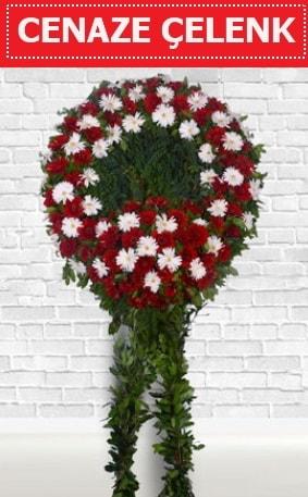 Kırmızı Beyaz Çelenk Cenaze çiçeği  Bursadaki çiçekçiler karacabey çiçekçi telefonları