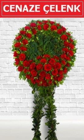 Kırmızı Çelenk Cenaze çiçeği  Bursadaki çiçekçiler karacabey çiçekçi telefonları