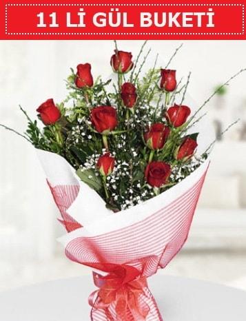 11 adet kırmızı gül buketi Aşk budur  çiçek siparişi Bursa karacabey çiçek yolla