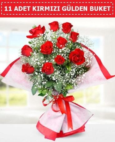 11 Adet Kırmızı Gül Buketi  Bursa inegöl kaliteli taze ve ucuz çiçekler
