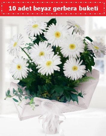 10 Adet beyaz gerbera buketi  Bursada çiçekçi osmangazi çiçek , çiçekçi , çiçekçilik